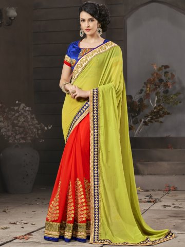 https://static5.cilory.com/114675-thickbox_default/jiyara-orange-green-party-wear-saree-with-skirt-blouse.jpg