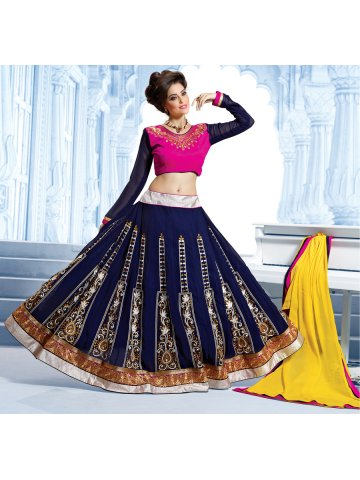 https://static8.cilory.com/116032-thickbox_default/ghoomer-pink-navy-semi-stitched-ghagra-choli.jpg