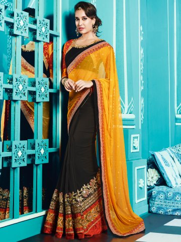 https://static.cilory.com/129633-thickbox_default/trendz-black-orange-designer-party-wear-saree.jpg