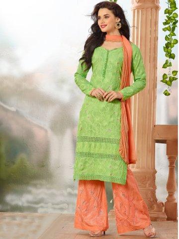https://d38jde2cfwaolo.cloudfront.net/130832-thickbox_default/glory-green-orange-unstitched-plazzo-suit.jpg