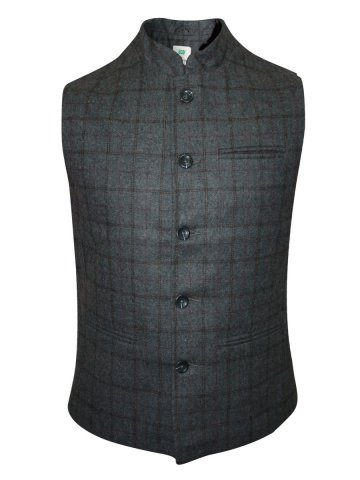 Numero Uno Dark Grey Waist Coat at cilory