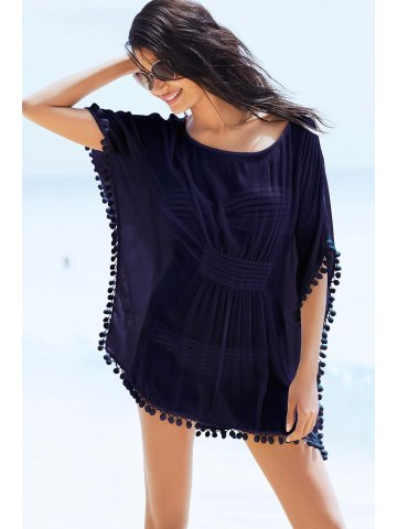 https://static2.cilory.com/159669-thickbox_default/navy-pom-pom-trim-cinched-waist-chiffon-kaftan.jpg