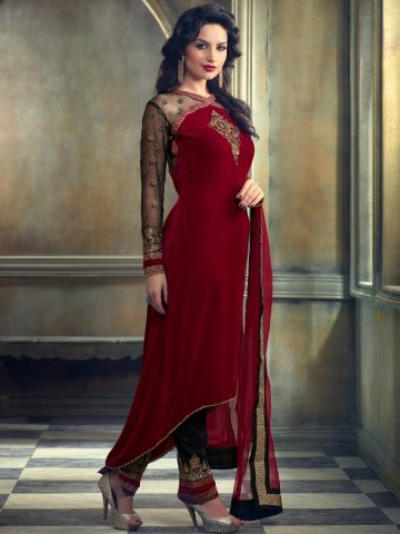 https://static7.cilory.com/160276-thickbox_default/mohin-red-black-semi-stitched-velvet-suit.jpg