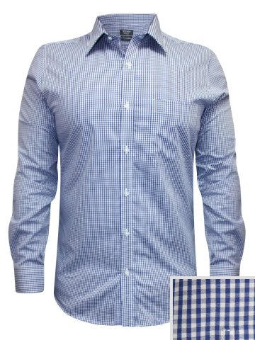 Turtle Pure Cotton Blue Check Shirt at cilory