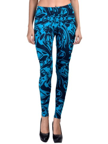 Femmora Blue Ankle Length Leggings at cilory