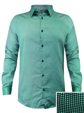 Arrow Green Formal Check Shirt at cilory