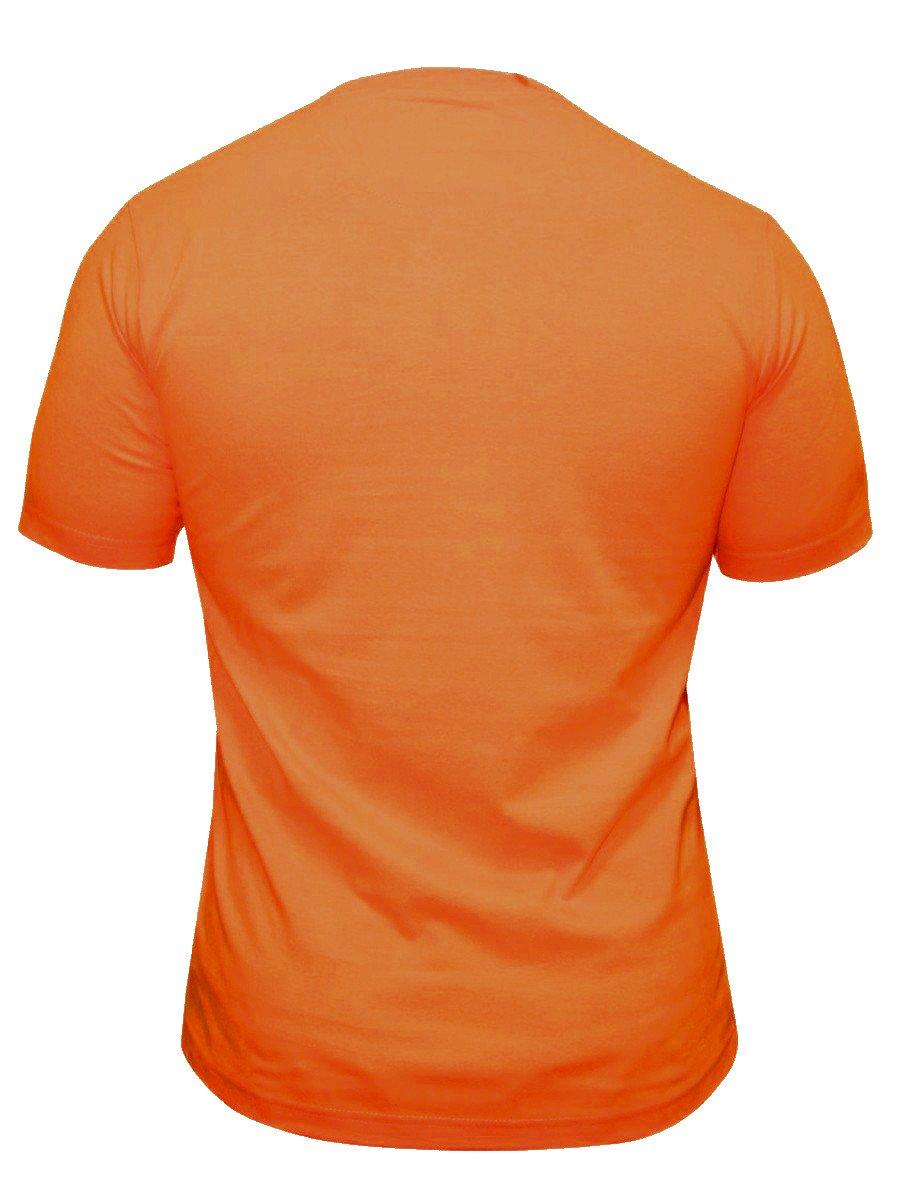 Buy t shirts online bushirt orange round neck t shirt for Buy t shirts online