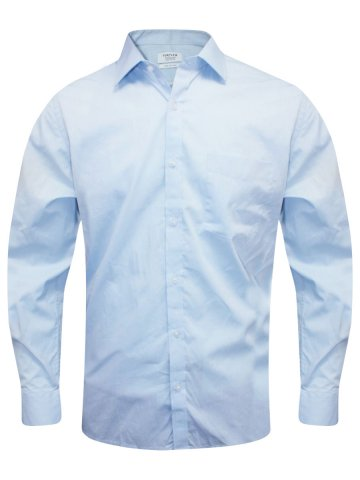 Turtle Pure Cotton Sky Blue Regular Fit Shirt at cilory