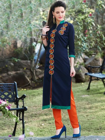 https://d38jde2cfwaolo.cloudfront.net/193380-thickbox_default/kajree-navy-blue-cotton-embroidered-kurti.jpg