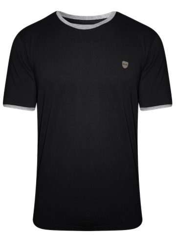 Monte Carlo C&D Black Round Neck T-shirt at cilory