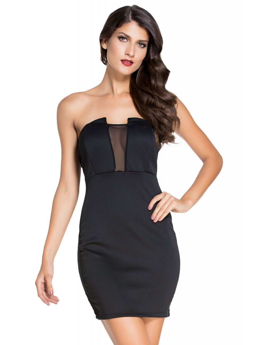 Strapless Black Mini Dress