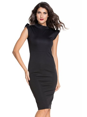 https://static.cilory.com/198287-thickbox_default/black-ruffle-sleeves-bodycon-midi-dress.jpg