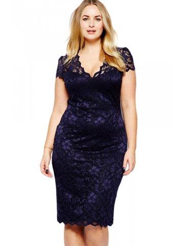 Blue bodycon dress plus size