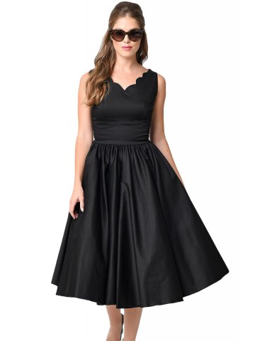 https://static9.cilory.com/206055-thickbox_default/black-scallop-neck-cinched-waist-ladylike-vintage-dress.jpg
