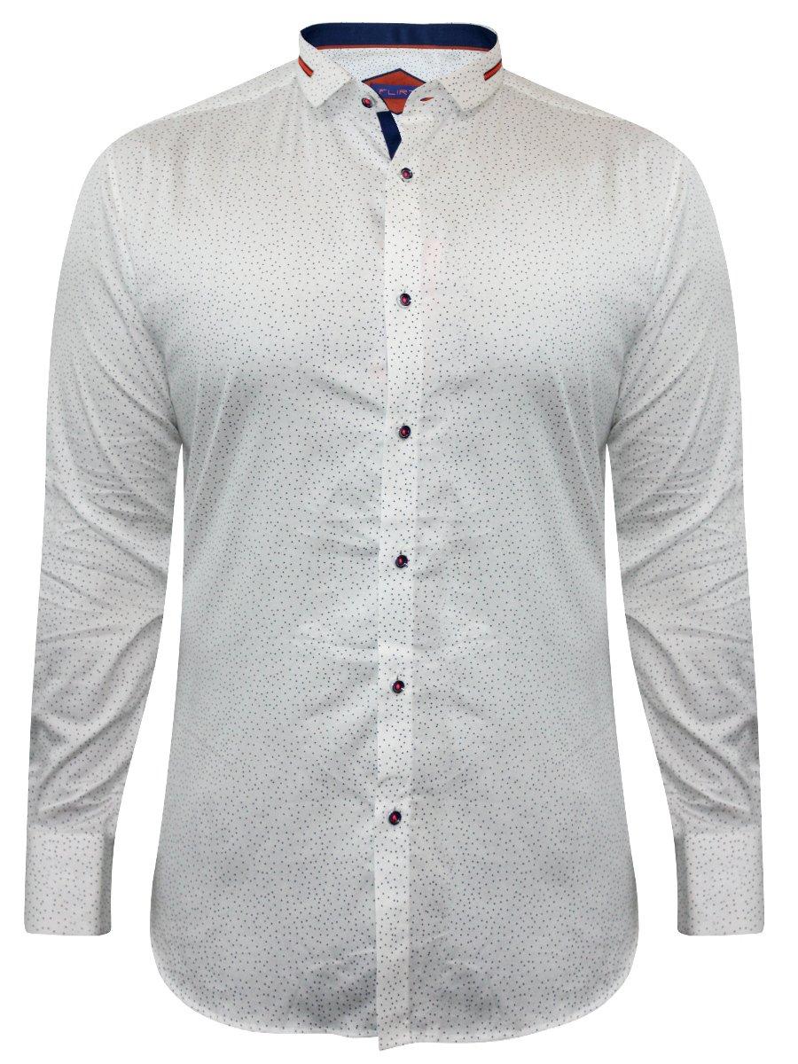 bbf8ee36c58 Flirt White Party Wear Shirt
