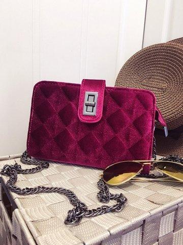 NoLogo Red classic velvet shoulder messenger bag