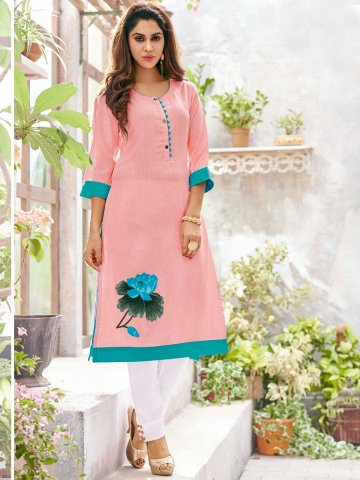 https://d38jde2cfwaolo.cloudfront.net/279254-thickbox_default/shivali-pink-rayon-cotton-kurti.jpg