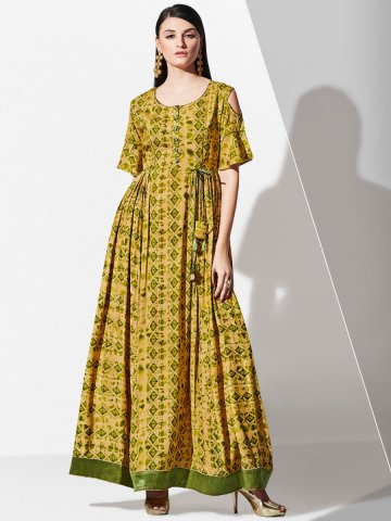 https://static1.cilory.com/328759-thickbox_default/blossom-brown-olive-green-rayon-cotton-cold-shoulder-long-kurti.jpg