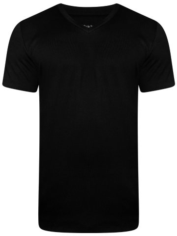 Uni Style Image Black V Neck T-Shirt at cilory