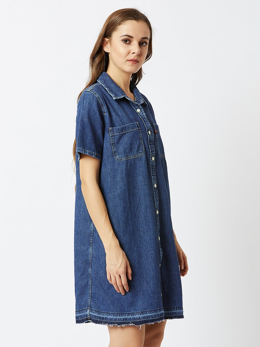39a9281eae4 Levis Denim Blue Shirt Dress