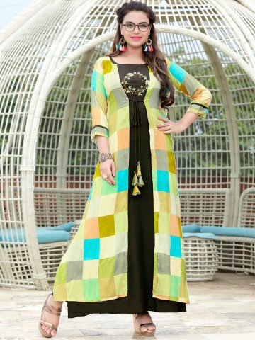 https://static6.cilory.com/367931-thickbox_default/mittoo-mahendi-green-kurti-with-multicolor-robe.jpg
