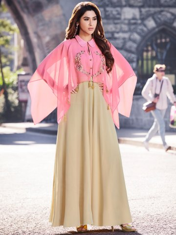 https://static6.cilory.com/372954-thickbox_default/pink-beige-embroidered-cape-sleeves-kurti.jpg
