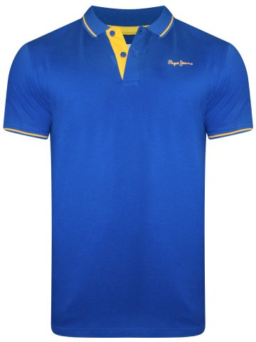 107601ee94  Pepe Jeans Maxton Royal Blue Tipping Polo T-Shirt.  https   static1.cilory.com 374949-thickbox default pepe-