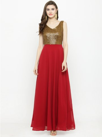 9e95f46976 >Sequin Copper & Red Flared Maxi Dress.  https://static5.cilory.com/394280-thickbox_default/copper-