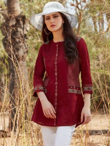 https://static7.cilory.com/394927-thickbox_default/maroon-cotton-embroidered-tunic.jpg