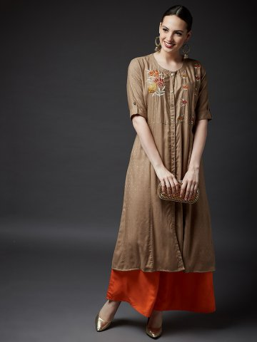https://static4.cilory.com/396305-thickbox_default/ad4u-brown-a-line-kurta-with-front-slit.jpg