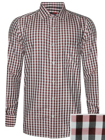 Peter England Light Pink Checks Shirt at cilory