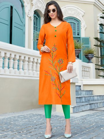 https://static6.cilory.com/405858-thickbox_default/orange-side-slit-embroidered-kurti.jpg