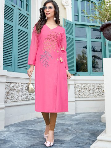 https://static7.cilory.com/405882-thickbox_default/pink-front-slit-embroidered-kurti.jpg