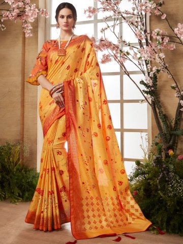 https://static8.cilory.com/407056-thickbox_default/kessi-yellow-printed-saree.jpg