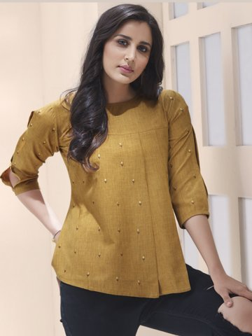 https://static8.cilory.com/407349-thickbox_default/brown-cotton-rayon-pleated-top.jpg