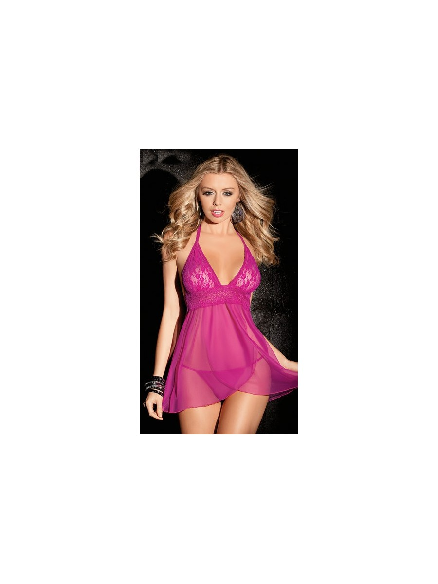 Pink Royal Nighty with matching G-String 762555561