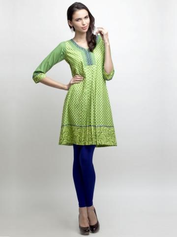 Full Sleeve Printed Anarkali Kurti at cilory