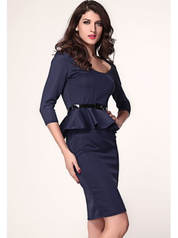 https://static6.cilory.com/89114-thickbox_default/dark-blue-long-sleeve-belted-peplum-midi-dress.jpg